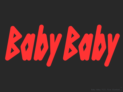 Baby Baby layered 3d color font