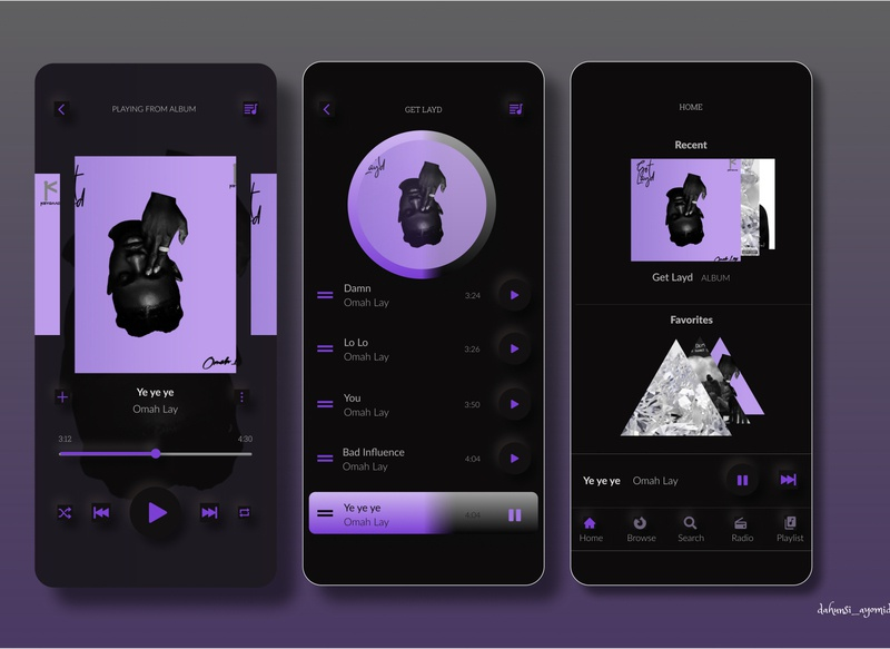 Music Player app neumorphic design design ux ui