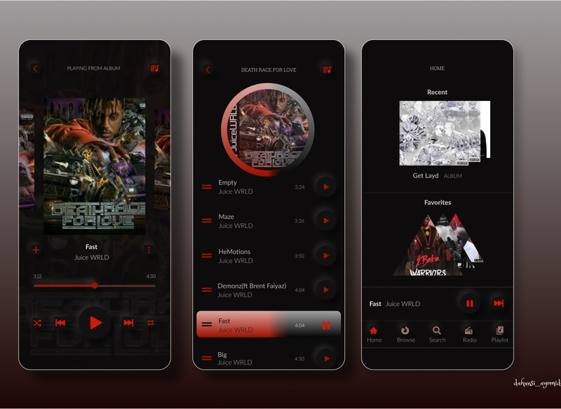 Music Player neumorphic design ux neumorphism ui app