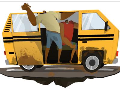 Taking a Ride. vector art adobe illustrator