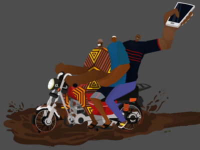 In a Hurry! illustrator vector