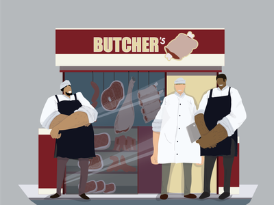 Butcher Shop vector art illustration vector adobe illustrator