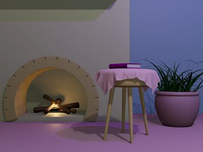 Fireplace (3) design blender3d blender 3d