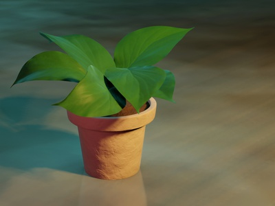 Plant Pot substancepainter lighting clay plant texturing modeling blender3d 3d blender