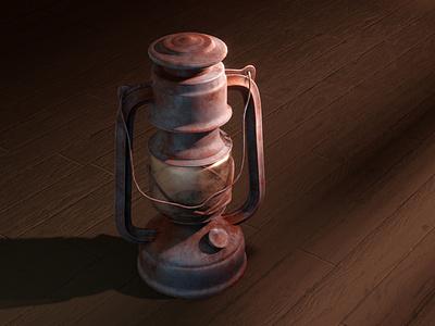 Old Lantern texturing painter substance lighting blender3d blender 3d