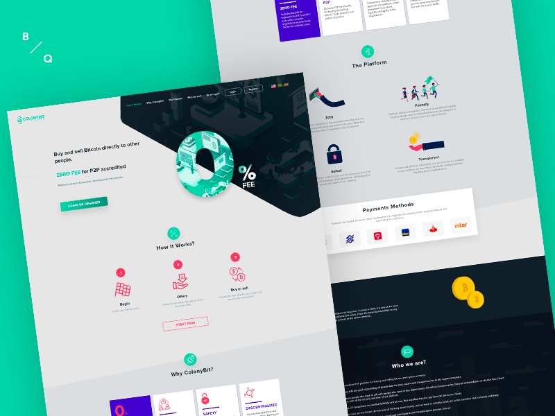 Colonybit - Web site website site mining bitcoin finance wallet cryptocurrency crypto adobe landing page portfolio xd redesign prototype design interface ui ux