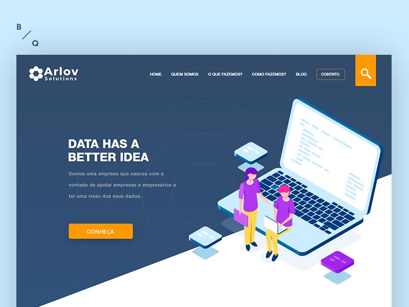 Arlov  - Landing Page adobe data visualization business xd web design data analysis data science data landing page redesign prototype design interface ux ui