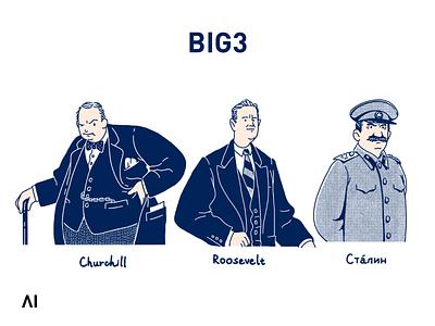 BIG3    1 print illustration