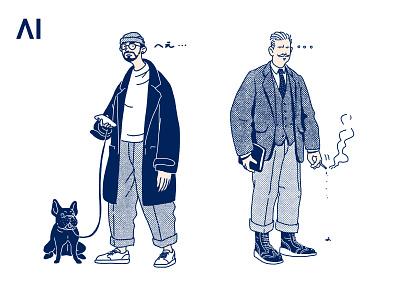 AI FASHION MAN print fashion man illustration