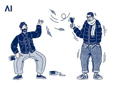 AI FASHION MAN drawing print illustration
