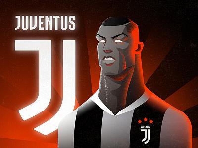 CR7 TO JUVENTUS juventus football soccer cr7 ronaldo painting print drawing graphic illustration
