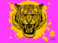 Engraving Tiger