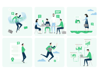 Illustrations for HumanLytics hello dribbble ui dribbble hello dribble vector branding illustration
