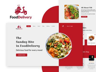 FoodDelivery logotype webdesign logo design landing page app design web ui  ux uiux ui design uidesign