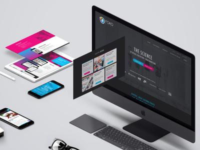 Foko website gradient dark ui design ux web ui