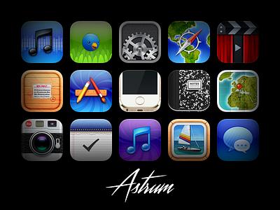 Astrum ios9 jailbreak skeuomorphism iphone ios theme astrum