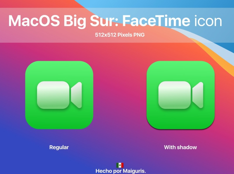 Macos Big Sur New Apple Facetime Icon By Ivan R On Dribbble
