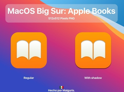 MacOS Big Sur New Apple Books Icon macosbigsur ui app macos icon icons macos bigsur maiguris