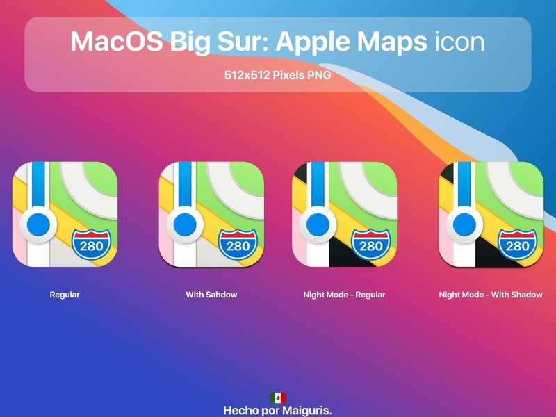 MacOS Big Sur: Apple Maps icon app macos icon macos icons bigsur maiguris