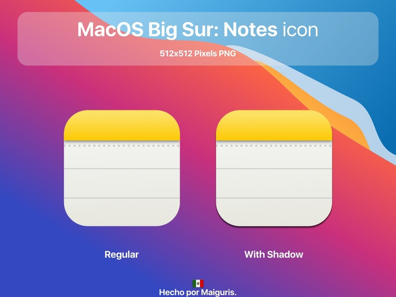 MacOS Big Sur: Notes icon ui macos icon macos icons bigsur maiguris