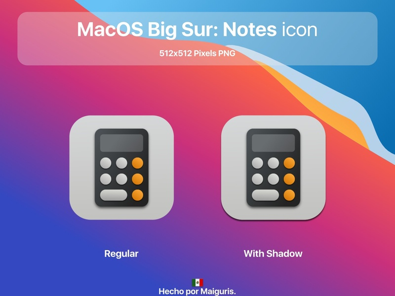 MacOS Big Sur: New Calculator icon app ui macos icon macos icons bigsur maiguris