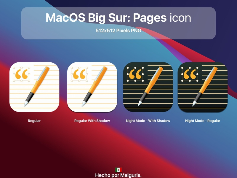 MacOS Big Sur: Pages icon apple app ui macos icon macos icons bigsur maiguris