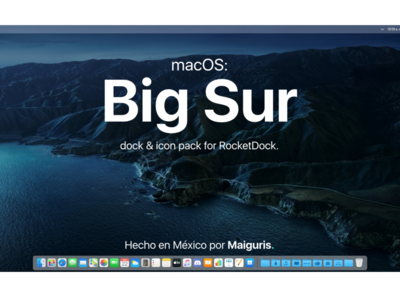 MacOS Big Sur: dock & IconPack for RocketDock  (w Download link)