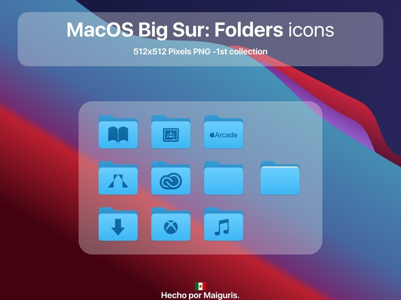 MacOS Big Sur: Folders icons apple app ui macos icon macos icons bigsur maiguris