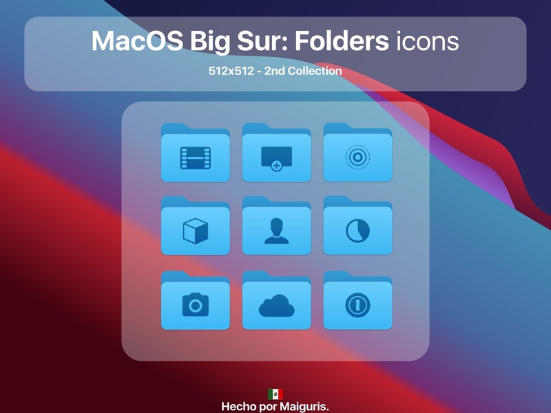 MacOS BigSur: Folders icons folder folder icon folders apple ui macos icon macos icons bigsur maiguris