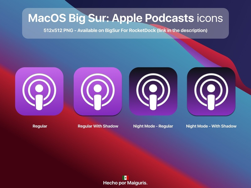 macOS Big Sur: Apple Podcasts icons podcasts apple app ui macos icon macos icons bigsur maiguris