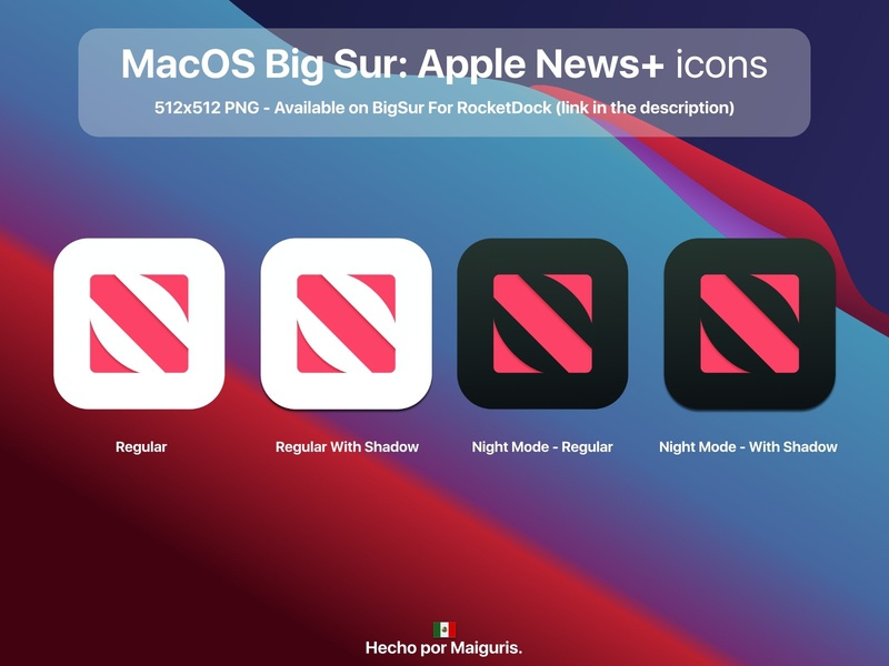 macOS Big Sur: Apple News+ icons apple news news apple ui app macos icon macos icons bigsur maiguris