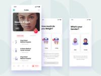 Profile Screen - Donation App / iOS