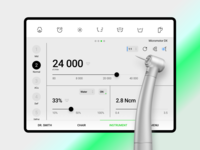 The Control App for Dental Unit / Tablet App touch medicine hospital dental care panel instrument dental minimal ipad tablet android ios chair dentist interface innovation intuitive control system applications tablet app modern