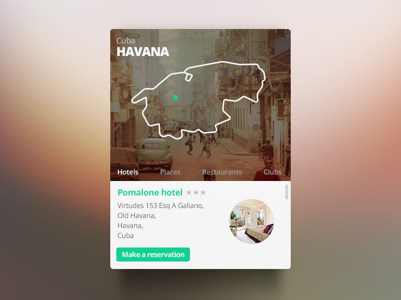 Havana Widget