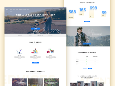 Q Redesign how it works ui compare services hero landing homepage find site web travel redesign