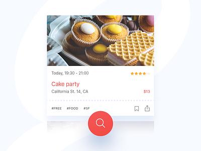 Card widget card component ui application app search ticket widget