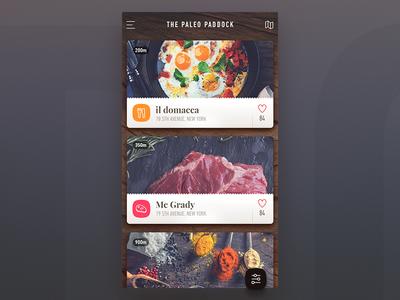 Food - ios application restaurant menu dashboard listing ios app filter eggs meet healthy food paleo