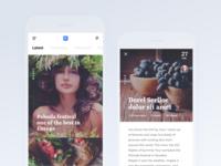 Mobile blog app for iOS