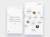 Quotes ios application - Discover screen