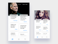 Quotes by Steve Jobs and Adele (ios app)