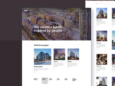 New JTRE Web Design web development real estate buildings design ui ux bratislava rent property homepage
