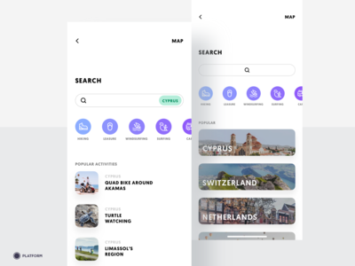 Travel App - Search