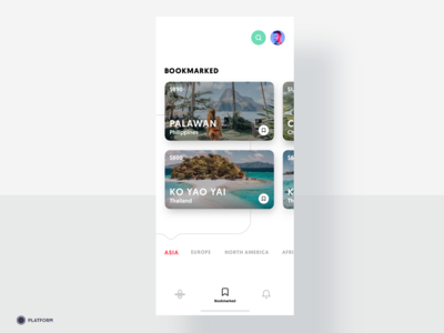 Travel App - Bookmarked