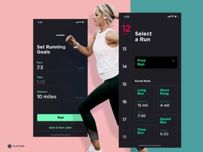 Fitness App - Set Running Goal