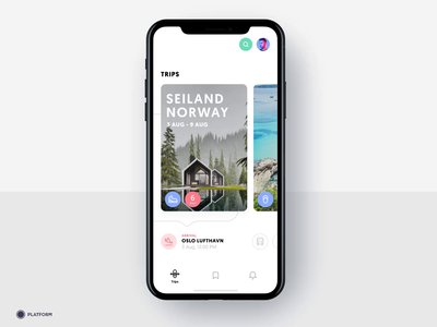 Travel App - Trip Detail / Animation skyscanner ios animation after effects search mobile kayak holiday beach norway mallorca iphone hiking destination trips planning application app design app animation