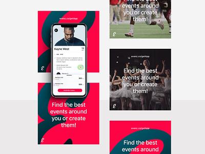 Social Media Posts - Templates mobile ios snapchat tiktok twitter instagram ballet singer kayne west app design app event marketing social media