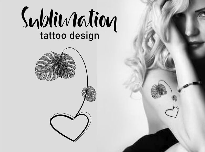 Monstera Tattoo Design Art домашний декор зенарт лист таттуировка монстера flower символ модный концепт иллюстрация знак графика вектор арт