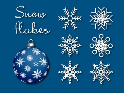 Snowflake SVG Cut File Bundles | Christmas SVG | Snowflakes графика vector snowflakes home decor design graphics drawing winter