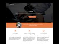 Telecom - Cloud PBX landing page