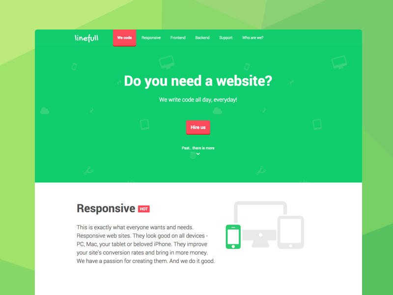 Simple landing page for Web Dev Agency landing page clean flat web agency